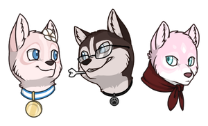 Husky Pack by IridescentMirage