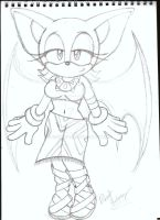 Rouge in Tikals outfit by Robie-Chan