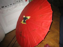 Isana Yashiro umbrella make process by Die-Rose