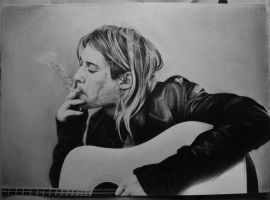 Kurt Cobain - comission by Fusionofforces
