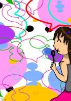 Blowing Speech Bubbles by Starpling