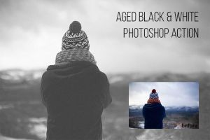 Free Black and White Photoshop Action by exposureschool
