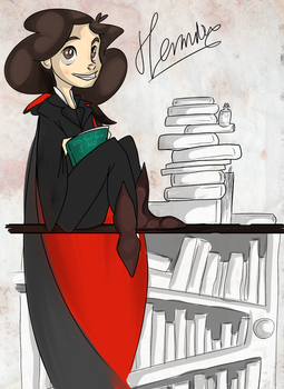 Miss Grangers and her books by ToxicKittyCat