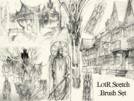 LotR Scetch Brush Set by bclock