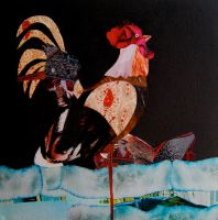 Goose and Rooster by DEVVONA