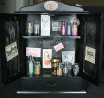 White the Druggist Cabinet by Jade-Eye-Creations