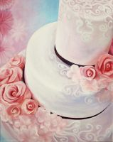 Rose Wedding Cake by sweetsourcherry