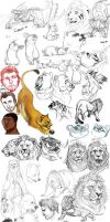BIG ASS SKETCH DUMP 12/12/12 by BearlyFeline