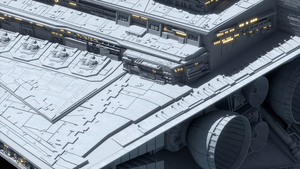 Star Destroyer - Closeup 1 by BlindIllusionist