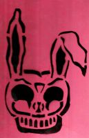 Pink Poppin' Frank Stencil by Zed-of-Venice