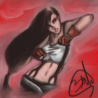 Tifa Lockhart speedart by Black-Strawbarrie