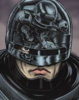 Robocop in Color by artistjerrybennett