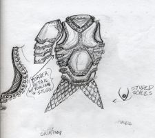 Black And Silver Armor Sketch by Azmal
