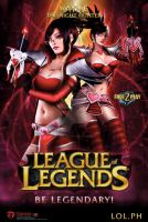 League Of Legend Cosplay Poster: Vayne by riccitamayo09