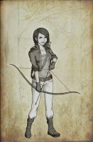 Katniss Everdeen by graysee