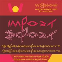 export import font by weknow by weknow