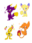 (Open 3/4) CHEAP! Pokefusions adoptables by littlemousecook