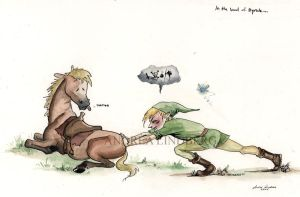 Link and Epona by Deggiahl