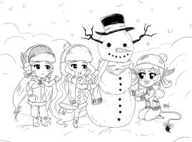 Snow Man ~LINES~ by Jeremy-Mendoza