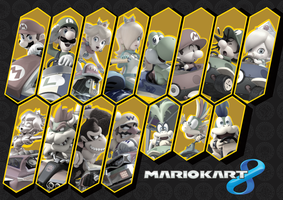 Mario Kart 8 Wallpaper by ManyLines