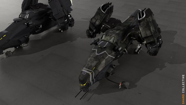 Boomslang Gunship Concept 2 - Electro Camouflage by ikarus-tm
