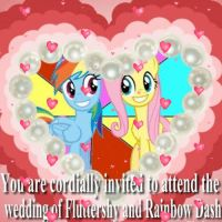 Flutterdash wedding invitation by snakeman1992