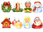 Xmas and New Year pack by FreeIconsFinder