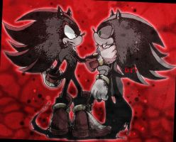 shadow and mephiles by riku-dou