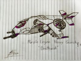 Purple Legion Gunship: Death Wish redesigned by UnitInfinity