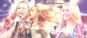 Demi Lovato Facebook timeline cover by MyusaTeddy
