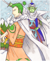 Cross Epoch - Piccolo and Zoro by shotout