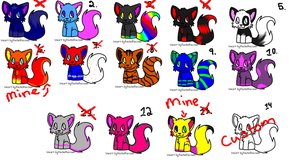 :FREE N CHEAP ADOPTABLES: OPEN by firenekos78