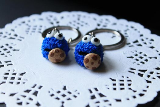 Cookie Monster Key-chain by angelsbiju