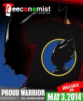 Vegeta shirt - Proud Warrior by worldcollider