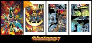 Alien Racers Comic Sequence by KomicKarl