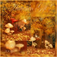 Autumn Gift backgrounds by moonchild-ljilja