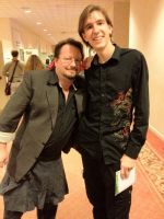Me and Sonny Strait, the voice actor for Krillin by DJ-Zemar