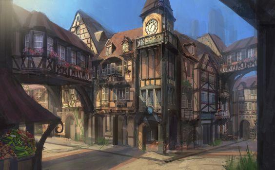Fantasy RPG Town by eddie-mendoza