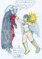 Human Celestia vs Marvel's Dracula by Jose-Ramiro