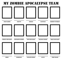 Zombie Apocalypse Team Template by W0WM4ST3R