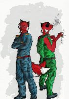 ...back 2 back...COPIC... by mad-dragon249