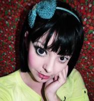 Gyaru circle lens makeup tutorial for big eyes by cherrybomb-81