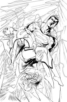 Inks from Action comics #974 by aethibert