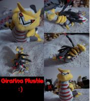 Giratina Plushie by Sophie-The-Skunk