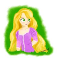 Rapunzel doodle (first sai drawing) by MrHaliboot