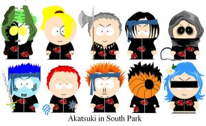 Akatsuki in South Park by clammin910