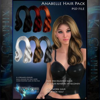 Anabelle Painted Instant Hair PSD hair stock by MakeMeMagical