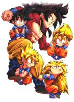 So many GOKUS by dabean