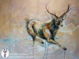 Bavarian Stag Study by Outputt