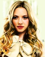 iPad painting of Amanda Seyfried by chaseroflight